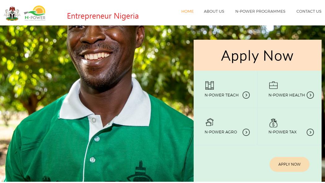 NPower Recruitment form 2017/2018 N-Power recruitment
