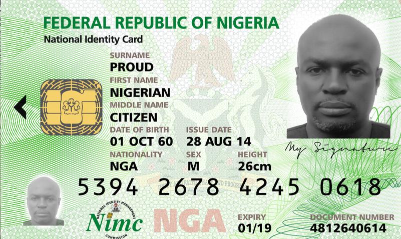 nigerian national identity card