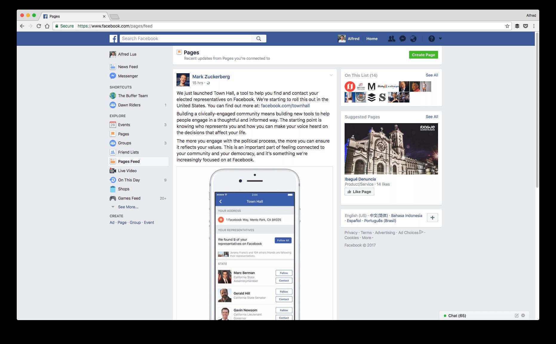 retrieve lost facebook 'likes'