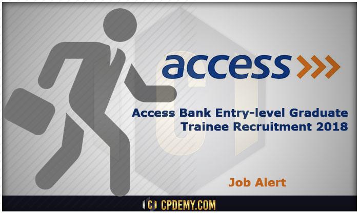 Access bank Entry-Level Graduate Trainee Recruitment 2018