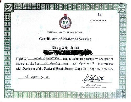 Obtain NYSC Exemption Certificate In Nigeria